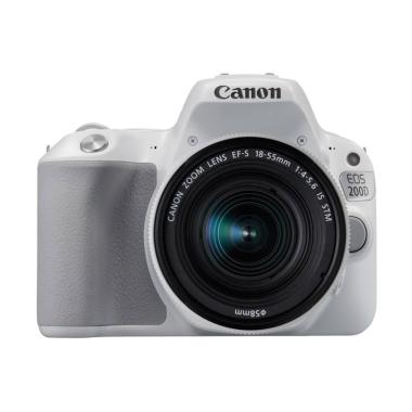harga Canon EOS 200D Kit EF-S 18-55mm IS STM Kamera DSLR - White Blibli.com