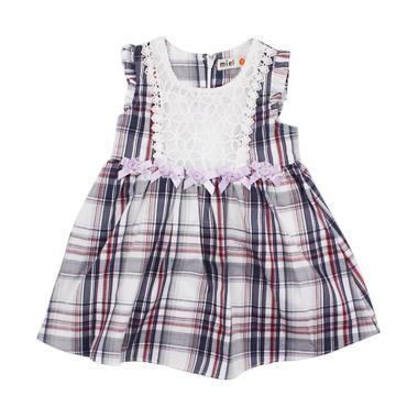 Miel Checkers Dress Anak