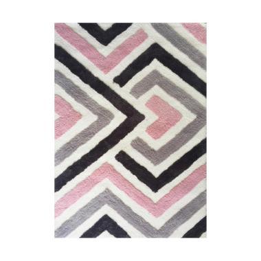 Vision XCRD-50 Karpet - Pink Grey White [110 x 160 cm]