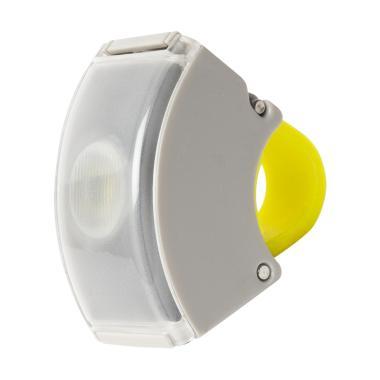 Bookman Curve Light 2 Lampu Sepeda USB -  Grey-Acid Yellow