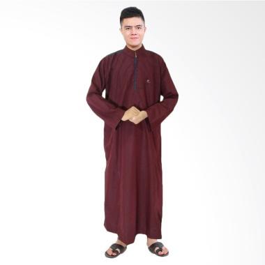 JCFashion Africani Al-Isra Gamis Jubah Muslim Pria - Maroon
