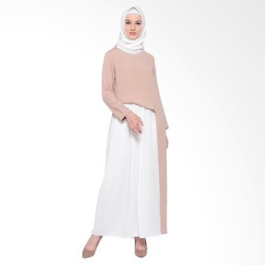 Kara Indonesia Alan Dress Long Dress Muslim Wanita - Tanbrown