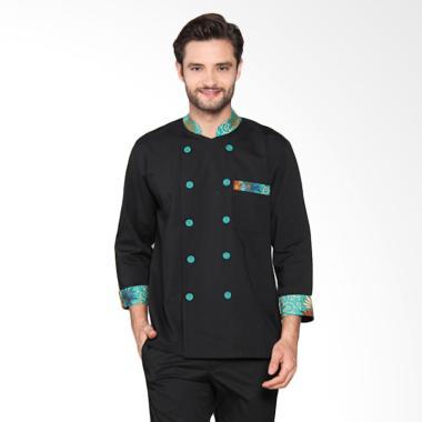 Chef Series Emerald Batik Tangan Pa ... ki - Hitam Hijau [Size S]