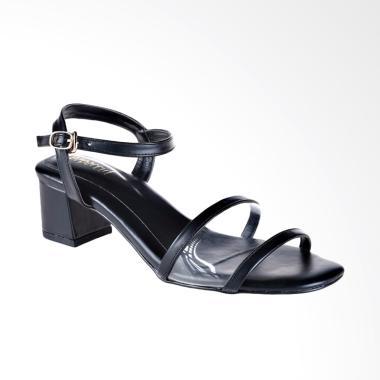 Papercut Shoes AN Ankle Strap Sandal Heels - Black