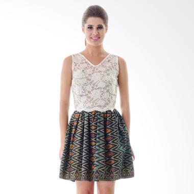 Rianty Selina Batik Dress Wanita - White