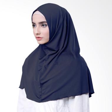 Najwa Hijab Kaos Katun TC Premium Jilbab Instan - Biru Navy