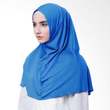 Najwa Hijab Kaos Katun TC Premium Jilbab Instan - Biru Electrik