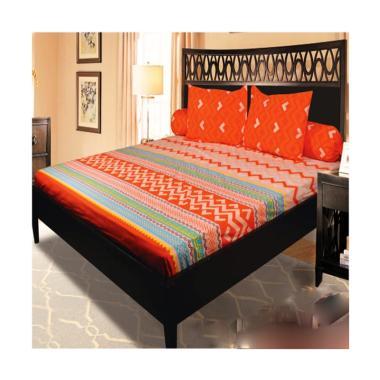 My Love Aztec Set Sprei - Orange [Tinggi : 30 cm]