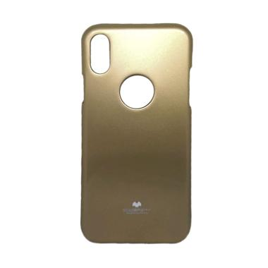Mercury Pearl Jelly Casing for Apple iPhone X 5.8 Inch - Gold