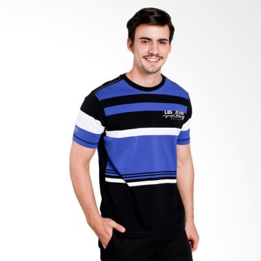 ba3172dd LGS Slim Fit Kaos Pria - Black White Blue [JTS.323.M1788F.01.C]