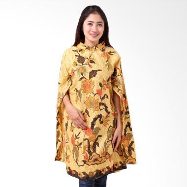 Batik Distro BA8817 Tunik Kaftan Blus Wanita - Kuning