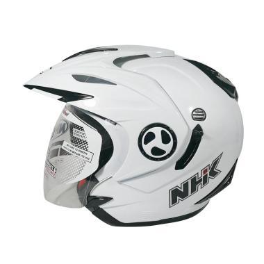 harga NHK Aviator Double Visor Helm Half Face - Solid White Blibli.com