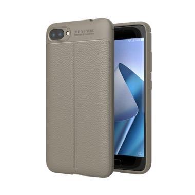 Viseaon Carbon Litchi Model Orange Peel Texture TPU Rubber Softcase Casing for Asus Zenfone 4 MAX