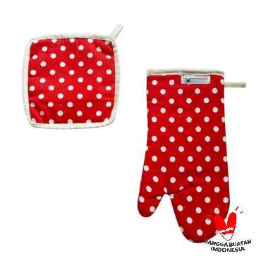 Stiletto In Style Glove Set Perlengkapan Dapur - Polkadot Merah