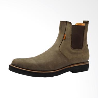 Dr.Faris Footwear Chelsea Boots Premium Sepatu Pria - Coklat