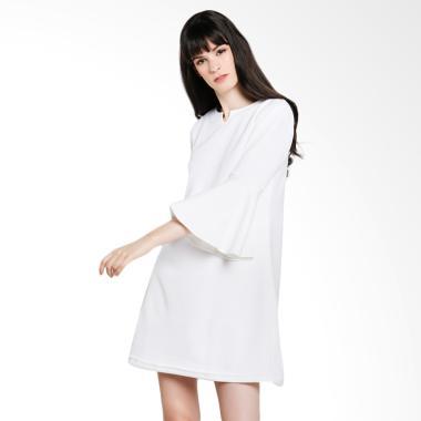 Yoorafashion DS804 Afwindo Tulip Ke ... Wanita Mini Dress - White