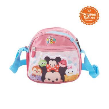 Disney Tsum Tsum Sling Bag Tas Sekolah Anak - Pink