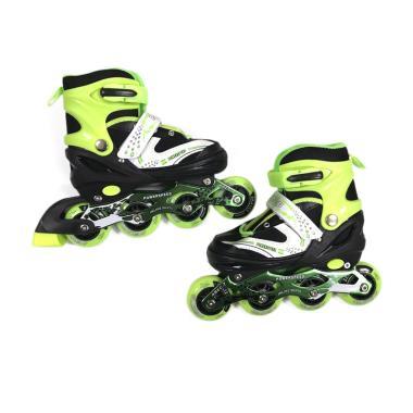 Allsportinggoods Power Speed Sepatu Roda - Hijau [Size M/34-37 cm]