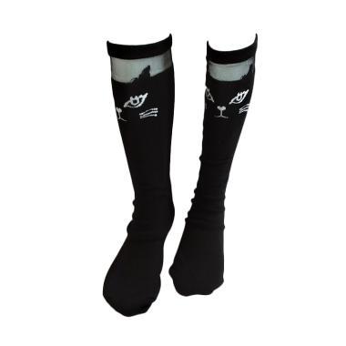 GBS Girls Sock Panjang Cat Kaos Kaki Anak - Black
