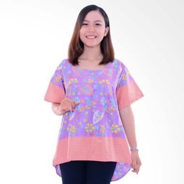 Winggo Etniq Mullet Blouse in Pastel Batik Wanita - Purple