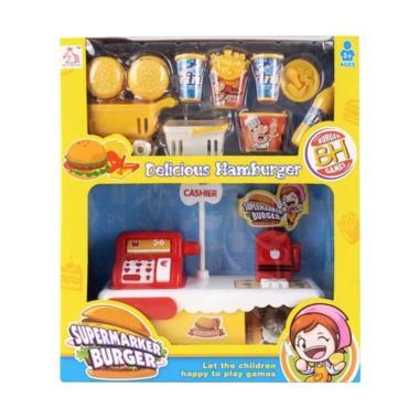 Yoyo Toys Supermarket Burger Cash Register Toys Mainan Anak