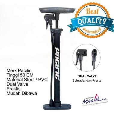 harga Pompa Angin Ban Sepeda dan Motor Kompa Speda Manual Dual Pentil Steel PVC - Pacific Aksesoris Sepeda Blibli.com