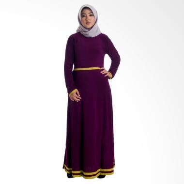 MIMUMOO Pitara Kaftan Abaya Dress Muslimah Syar'i Hamil Gamis - Ungu