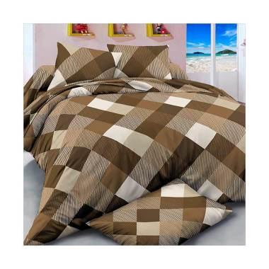 Beglance Microtex Soho Bed Sheet Set Sprei - Coklat