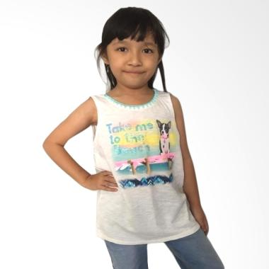 chloe's clozette TEE-01 Justice Kaos Anak Perempuan - Broken White