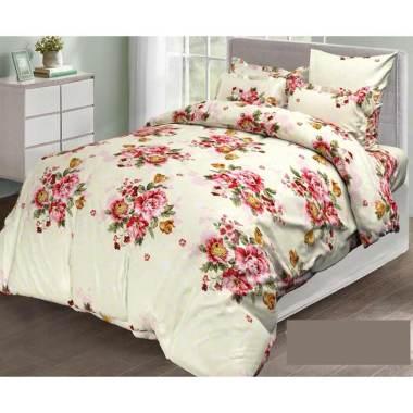 Melia Bedsheet J-4053 Katun Jepang Set Sprei - Floral Print