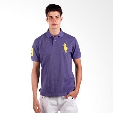 POLO RALPH LAUREN Custom Fit S-S Men Polo Shirt - Violet - X04ABZE05K0