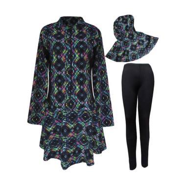 Rainy Collections Motif Mozaik Baju ... nita - Hitam [Size Jumbo]