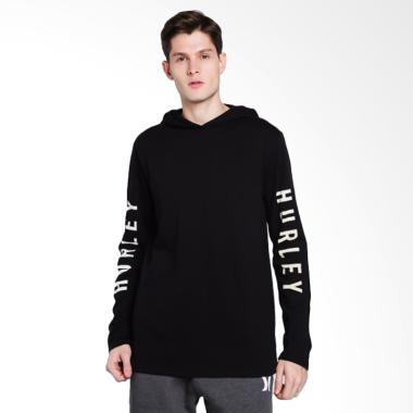 Hurley The One Long Sleeve T-Shirt Pria - Black
