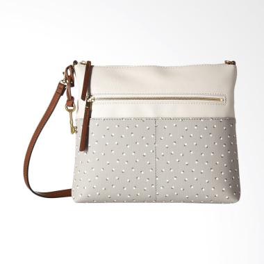 Fossil Fiona Crossbody Bag Wanita - Grey White