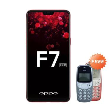 OPPO F7 Smartphone - Red [64 GB/4 GB] + Free Prince Pc-5