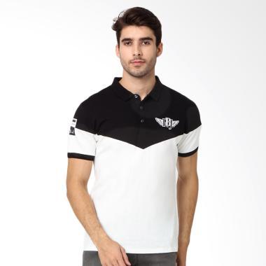 RBJ Polo Shirt Pria - Black White [2567560051]