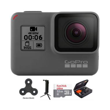 GoPro Hero 6 Combo Deluxe 32 GB Spin Action Camera - Black