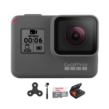 GoPro Hero 6 Combo Deluxe 16 GB Spin Action Camera - Black
