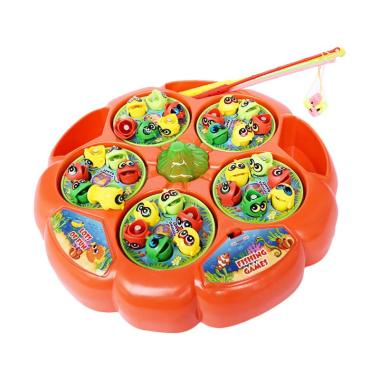 SNETOYS Fishing Game 5 Ponds Mainan Pancingan Ikan with 5 Kolam