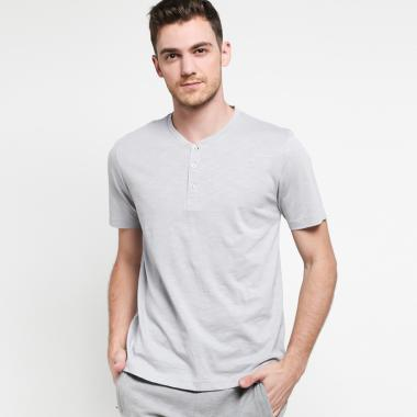 Carvil Men Jround Gry Tshirt Pria - Grey