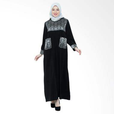 SYAHEERA Abaya Long Dress Muslim - Hitam
