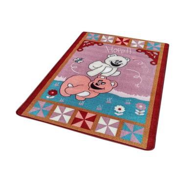 Tren-D-rugs JK03MR Karakter Bear Karpet - Merah [100 x 140 cm]