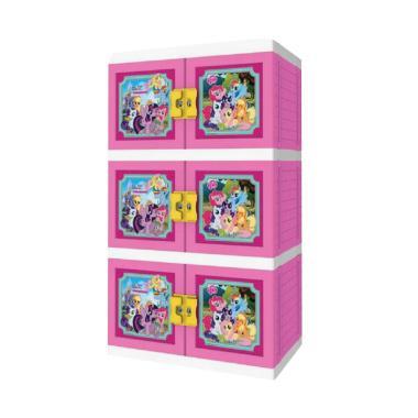 Naiba MPC Premium LPP Little Ponny Printing Lemari Plastik - Pink