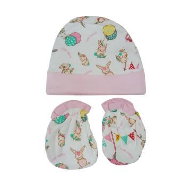 Mamimu Cute Rabbit Set Topi Sarung Tangan & Kaos Kaki Bayi - Pink
