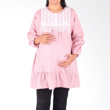 HMILL 1602 Baju Blus Hamil - Pink