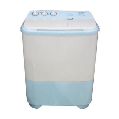 SHARP EST79SJBL Semi Auto Washer Mesin Cuci [2 Tabung]