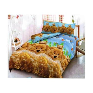 Kintakun Motif Golden Bear Dluxe Set Sprei [180 x 200 cm/ King]