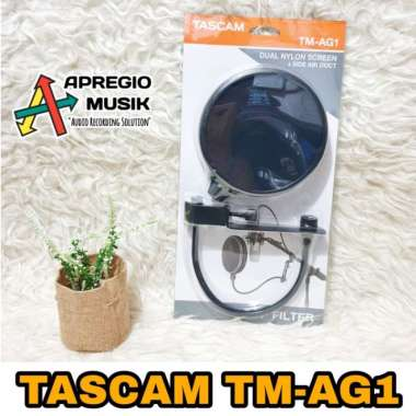 harga Unik Tascam TM-AG1 TM AG1 Pop Filter Profesional Recording Double Layer Limited Blibli.com
