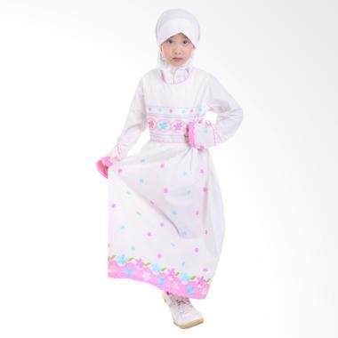 Jesca and Paul Selma 212 Gamis Baju Muslim Anak - White