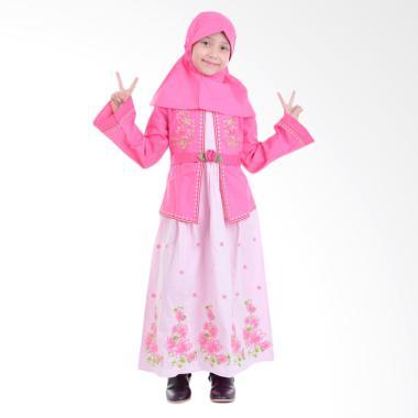 Jesca and Paul Selena 218 Gamis Baju Muslim Anak - Pink